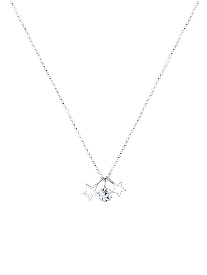 Halskette Sterne Astro Kristalle 925 Silber