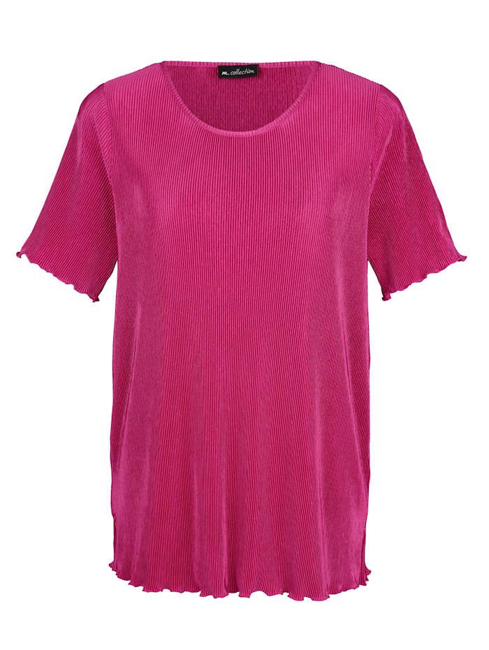 m. collection Plisseeshirt in bügelfreier Qualität, Pink