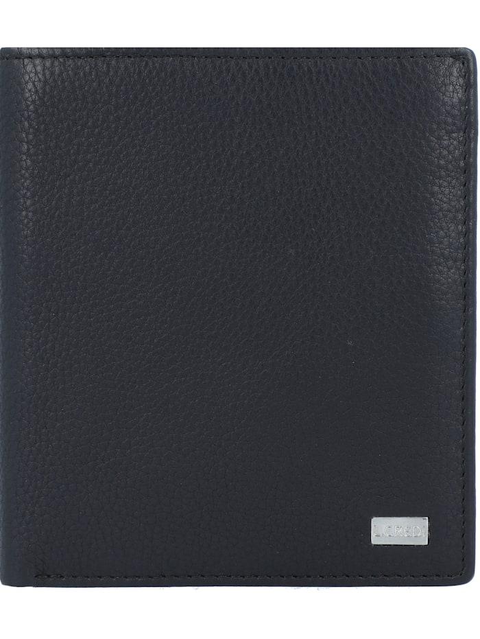 L.Credi Henry Geldbörse Leder 11 cm, schwarz