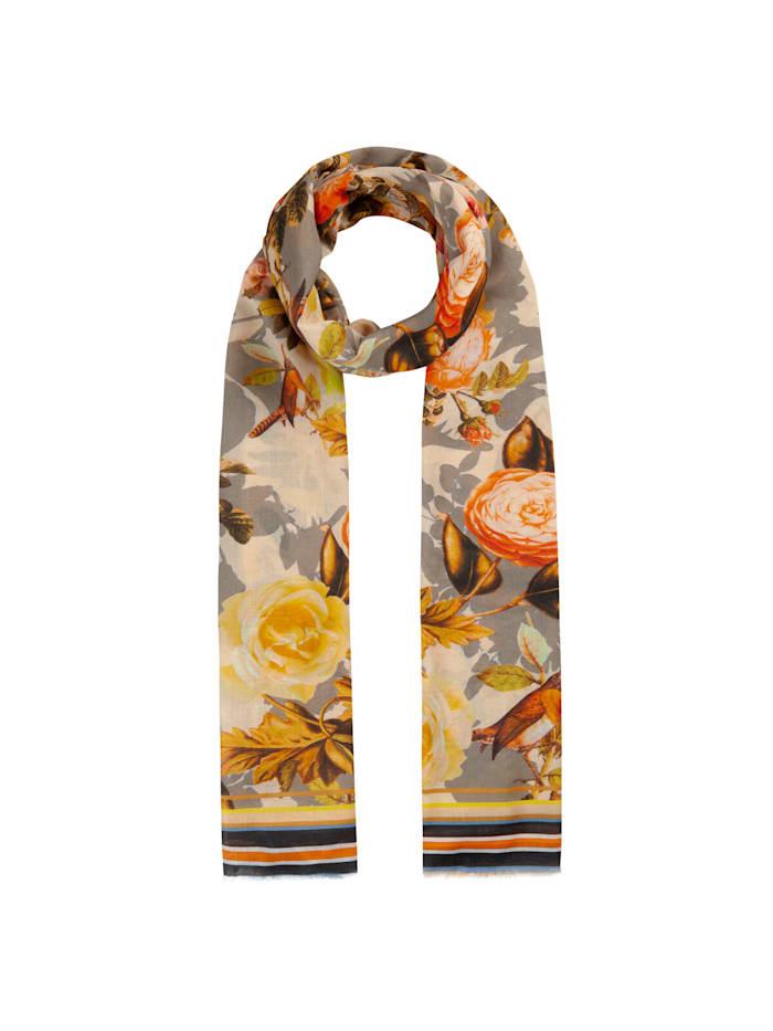 Codello Blumen-Schal aus Baumwolle und Modal, orange