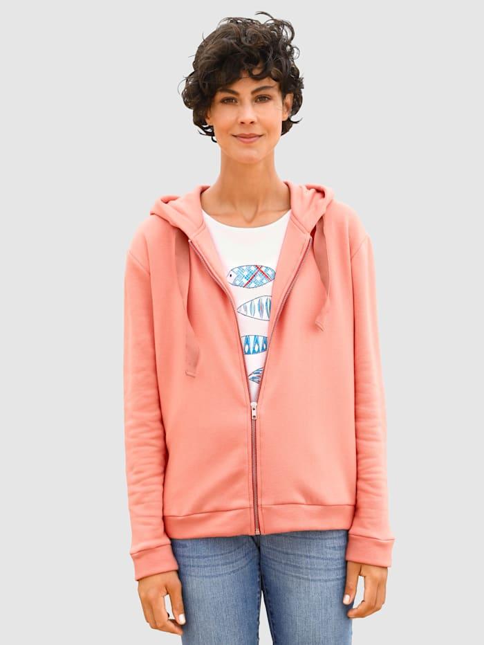 Dress In Sweatjacke in toller Farbgebung, Apricot