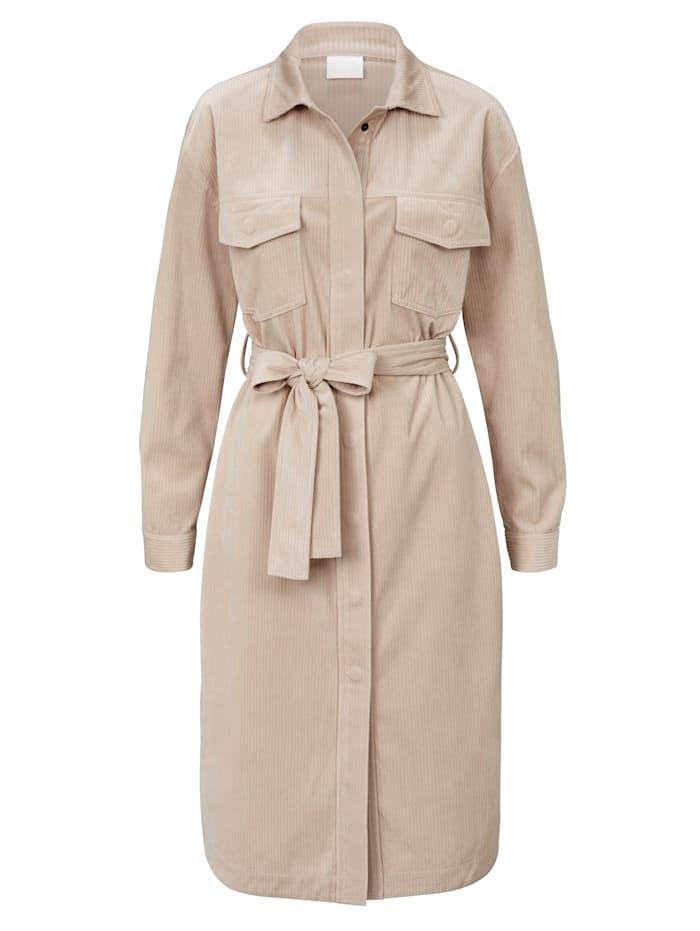 REKEN MAAR Kleid aus Kord, Creme-Weiß