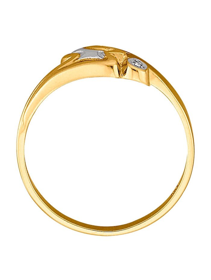 Damenring, 925 mit 1 Diamant