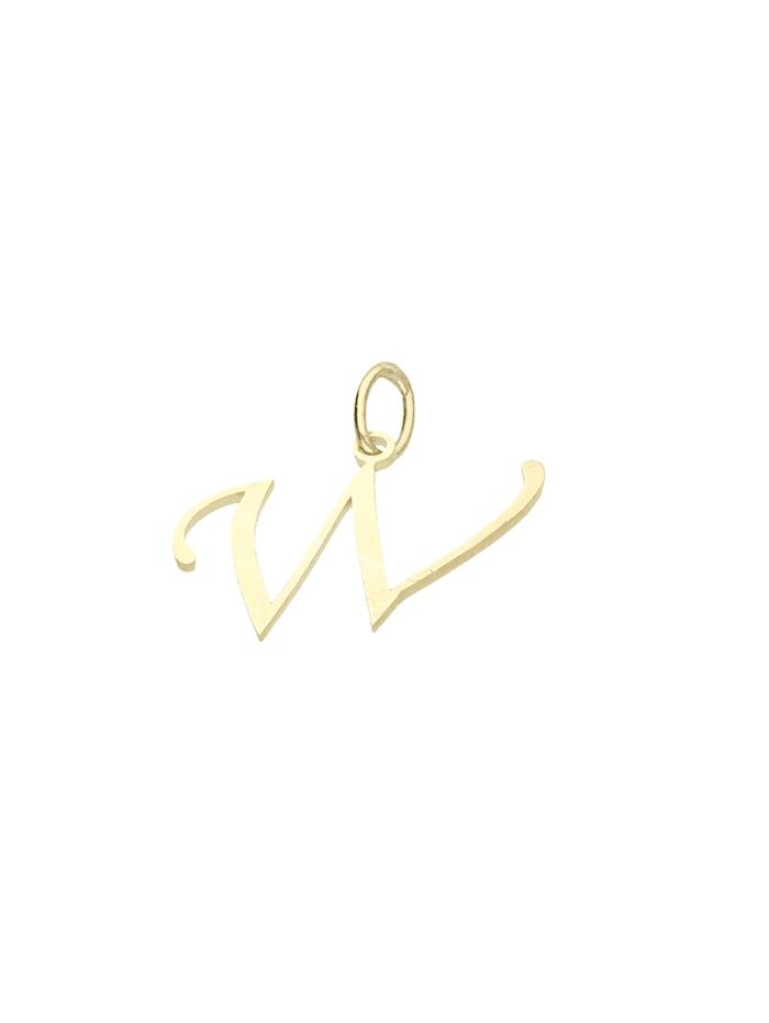 Luigi Merano Anhänger Buchstabe W, Gold 333, Gold