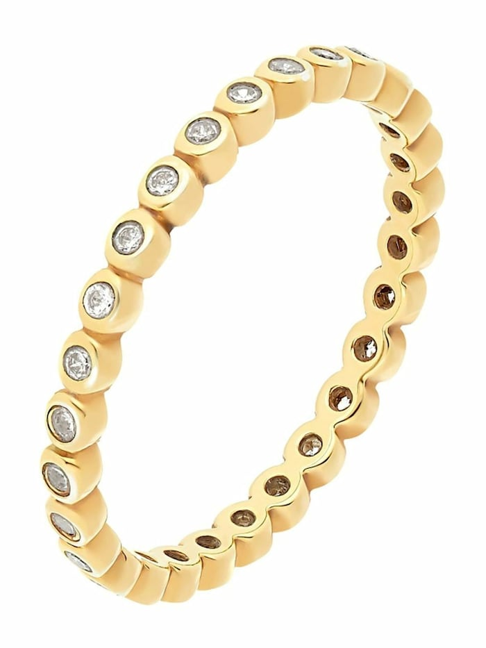 Noelani Ring für Damen, Sterling Silber 925, Zirkonia, Gold