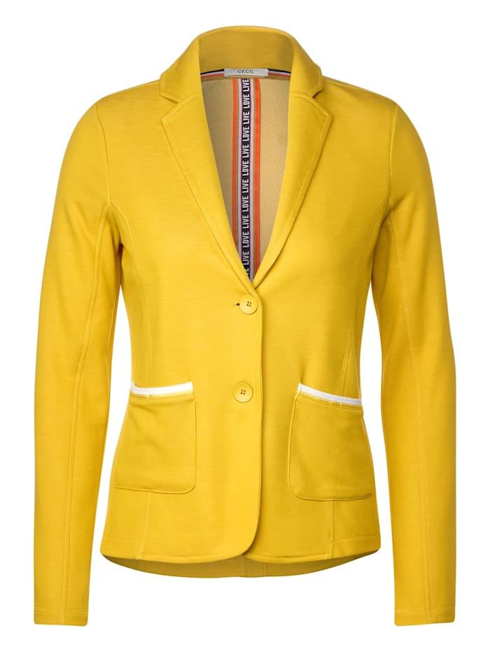Cecil Sweatblazer mit Doubleface, ceylon yellow