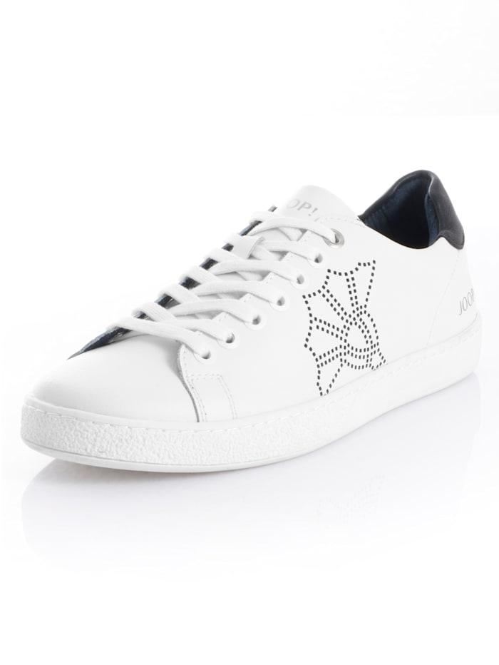 JOOP! Sneaker aus Leder, Weiß/Schwarz