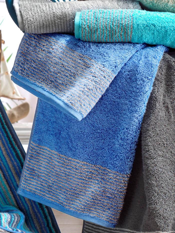 Cawö Frottierserie 'Two-Tone', Blau