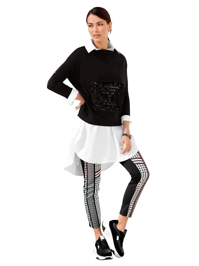 Sweatshirt mit Pailletten-Deko im Vorderteil
