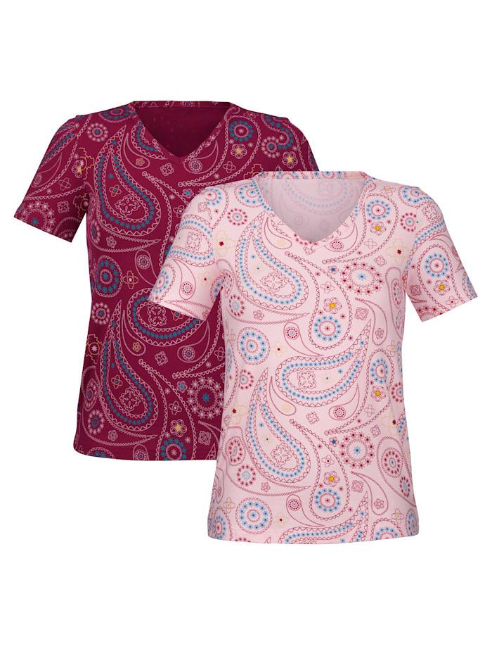 Blue Moon Shirts im 2er-Pack, Rosé/Beere
