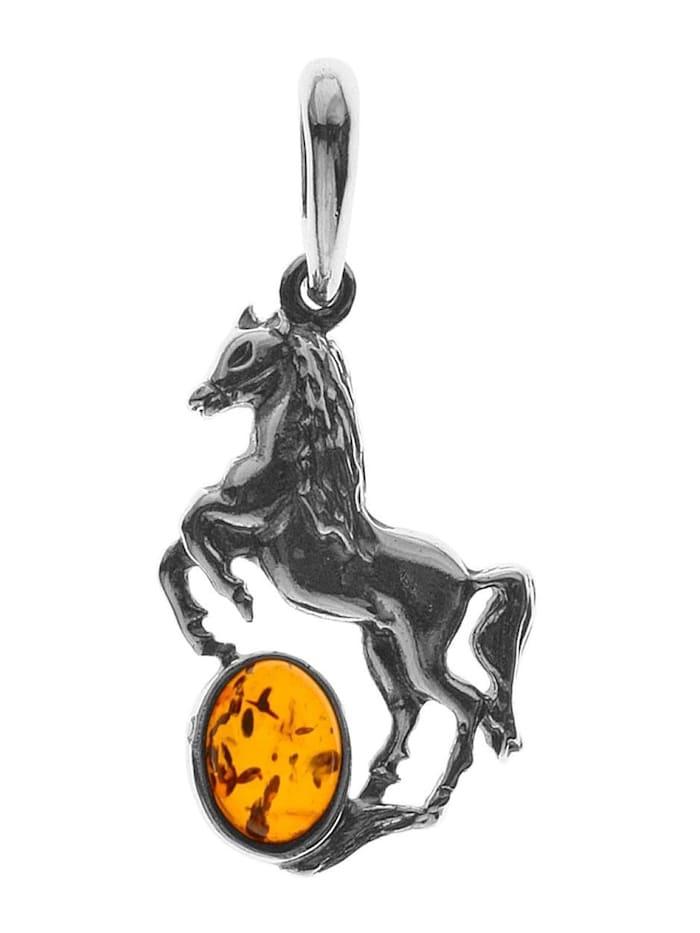 OSTSEE-SCHMUCK Anhänger - Pferd - Silber 925/000 - Bernstein, silber