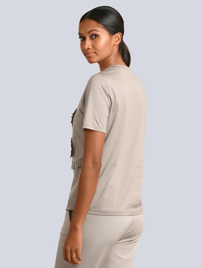Shirt in glänzender Baumwoll-Qualität