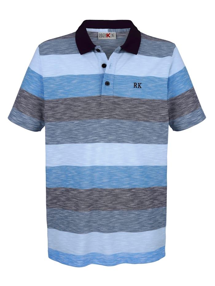 Roger Kent Poloshirt in modischer Optik, Blau
