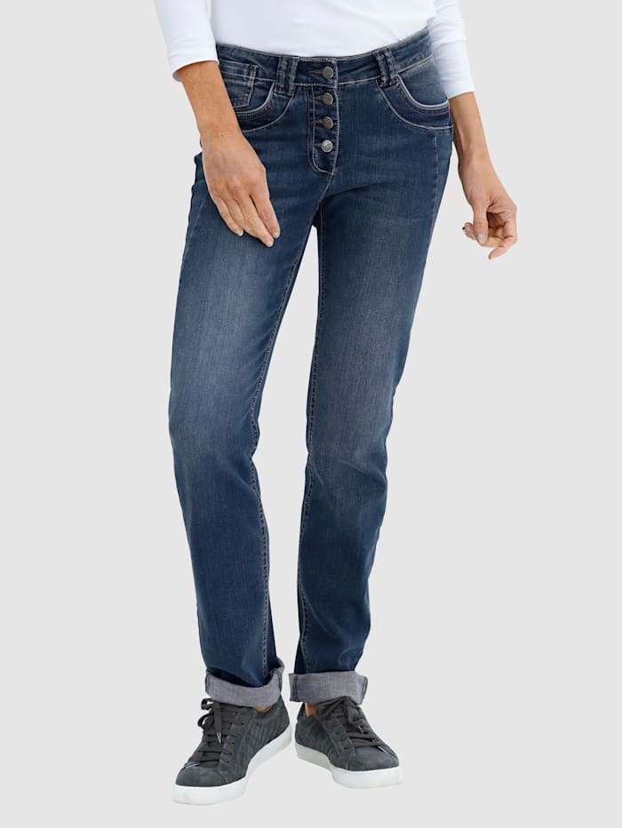 Dress In Jeans in Laura Slim model, Blauw