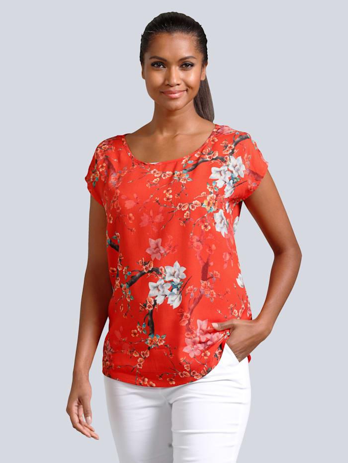 Alba Moda Bluse in sommerlicher Farbgebung, Rot
