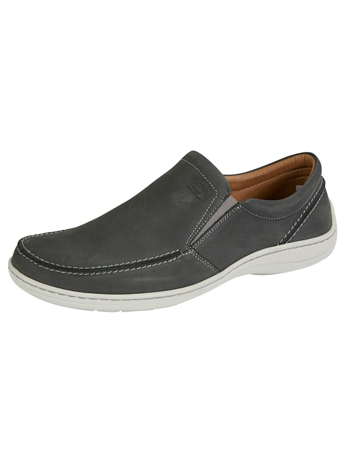 Chaussures basses à coutures mocassin, Anthracite