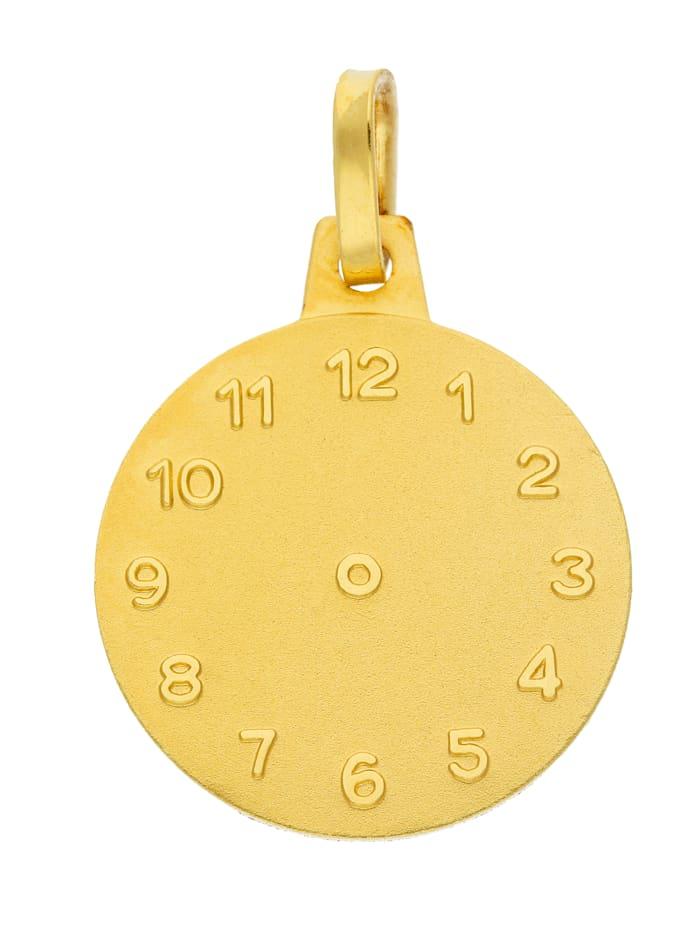 1001 Diamonds Damen Goldschmuck 585 Gold Anhänger Taufuhr Ø 14,1 mm, gold