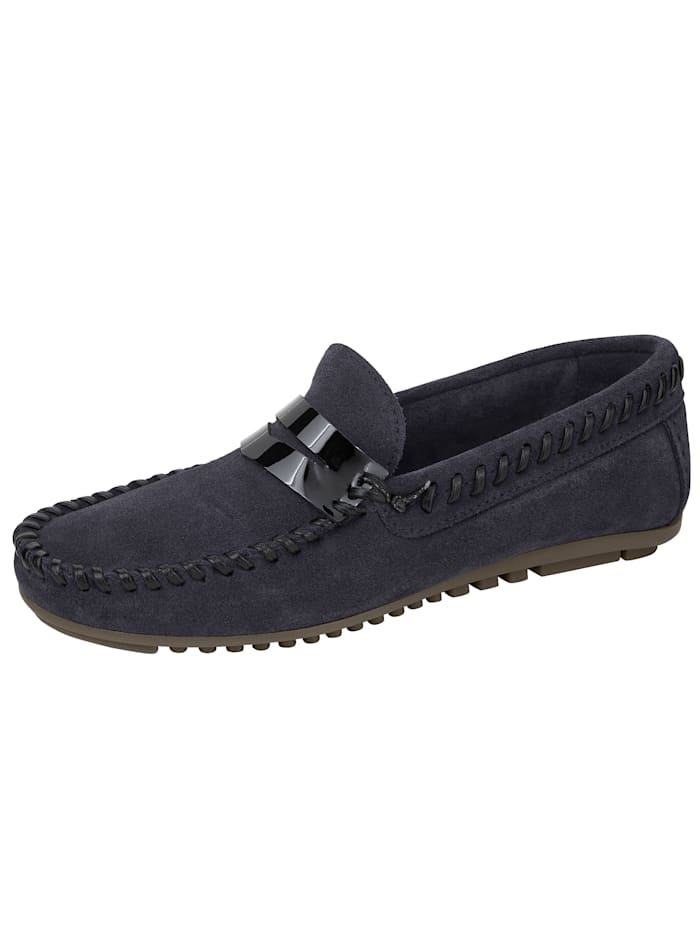 Studio W Moccasins made from leather and suede, Navy