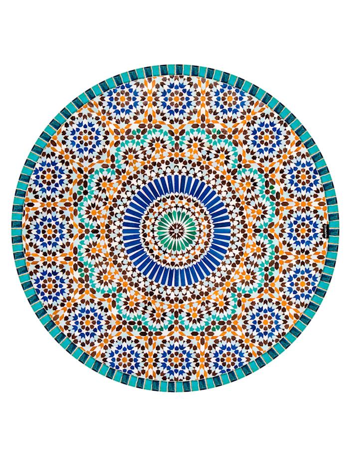 mySPOTTI Vinyl-Teppich, rund, Multicolor