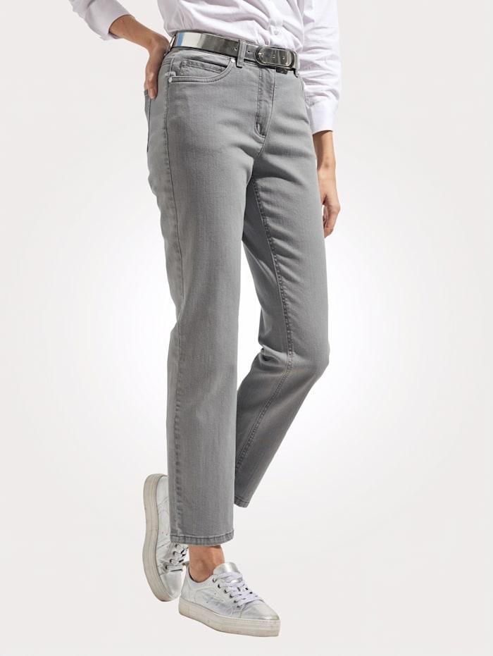 MONA Jeans in sportiver 5-Pocket-Form, Grau