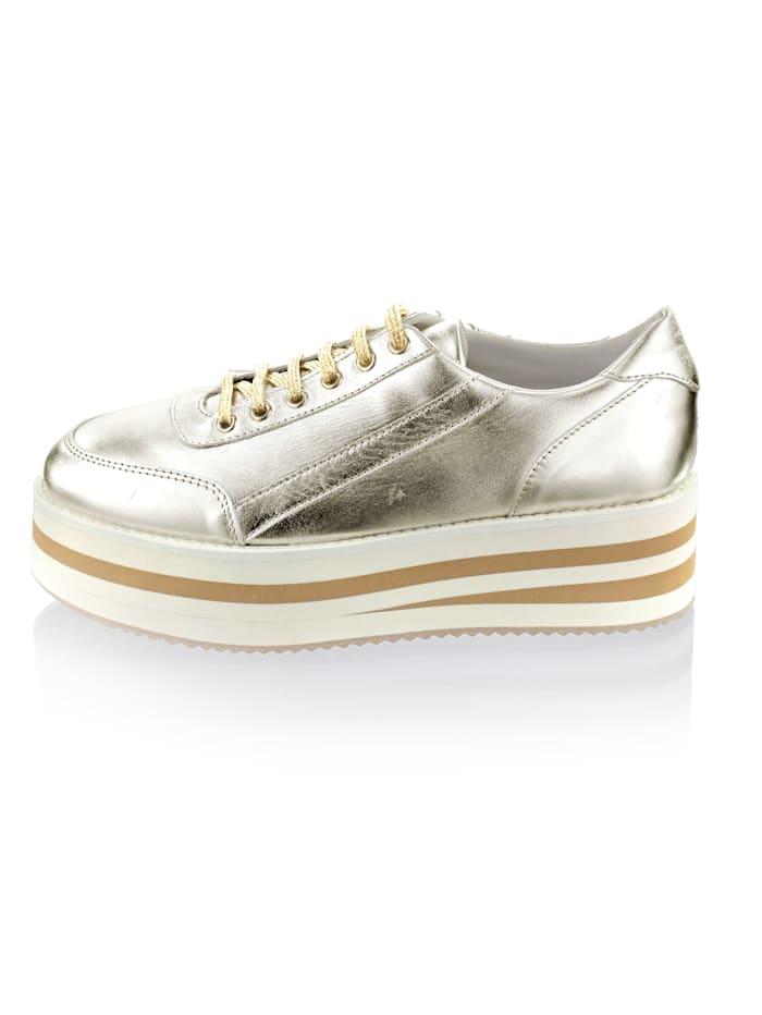 Sneaker met trendy, dikke plateauzool