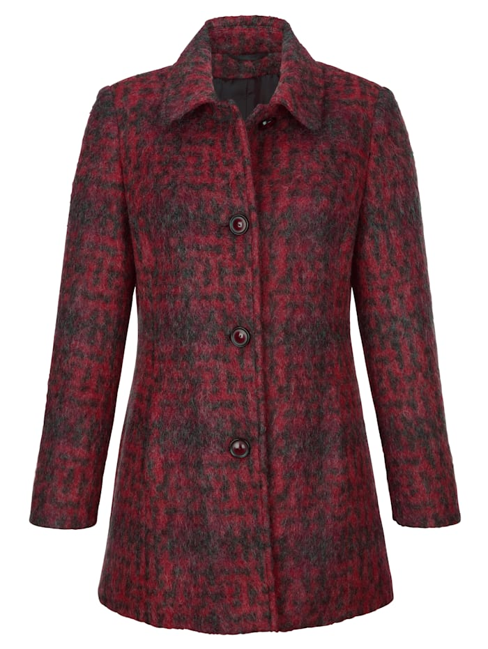 Wool-blend jacket in a classic check pattern