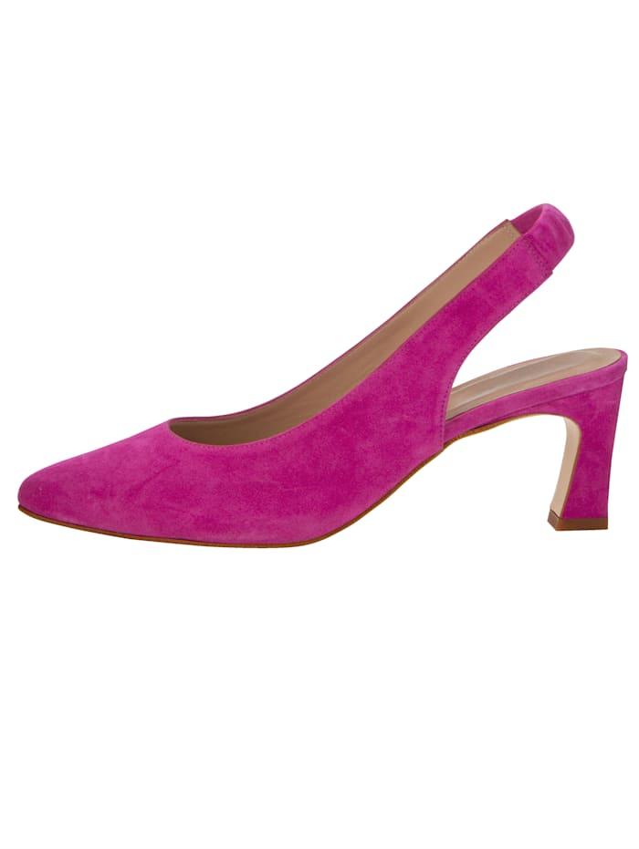 Sling obuv z jemnej kozej velúrovej kože
