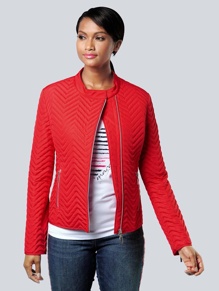 Alba Moda Jacke in modischem Laserstepp, Rot