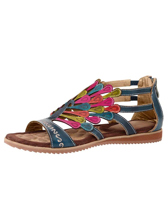 Sandalett i somriga färger