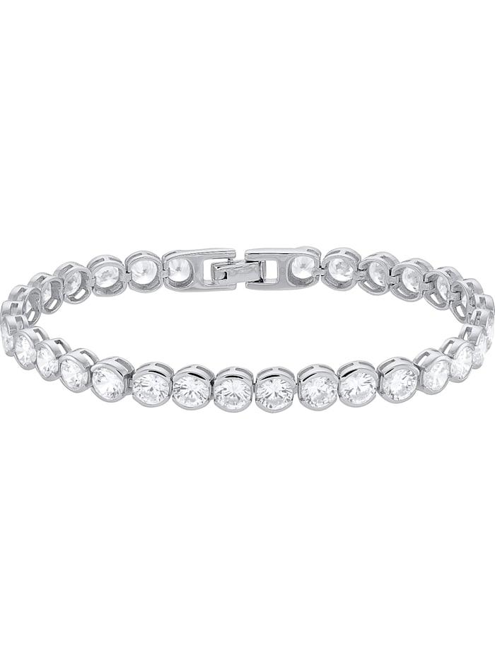 FAVS. FAVS Damen-Armband 925er Silber rhodiniert 30 Zirkonia, silber