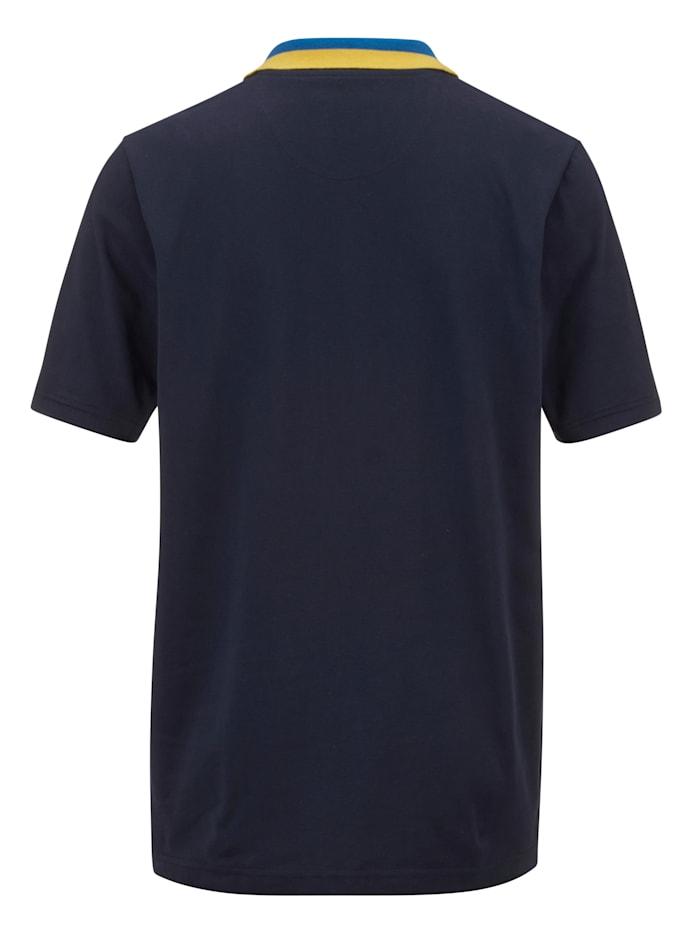 Poloshirt mit kontrastfarbenem Kragen