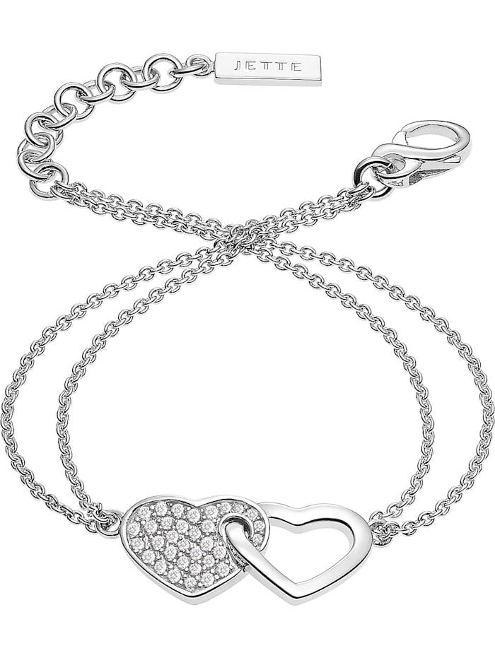JETTE Damen-Armband 925er Silber rhodiniert 33 Zirkonia