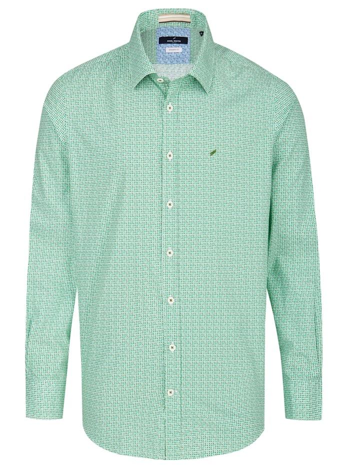 Daniel Hechter Hemd mit geometrischem Digitaldruck, mint green