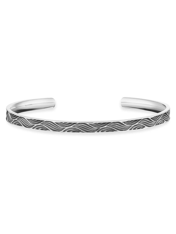CAI Armreif 925/- Sterling Silber ohne Stein Matt/Glanz, weiß