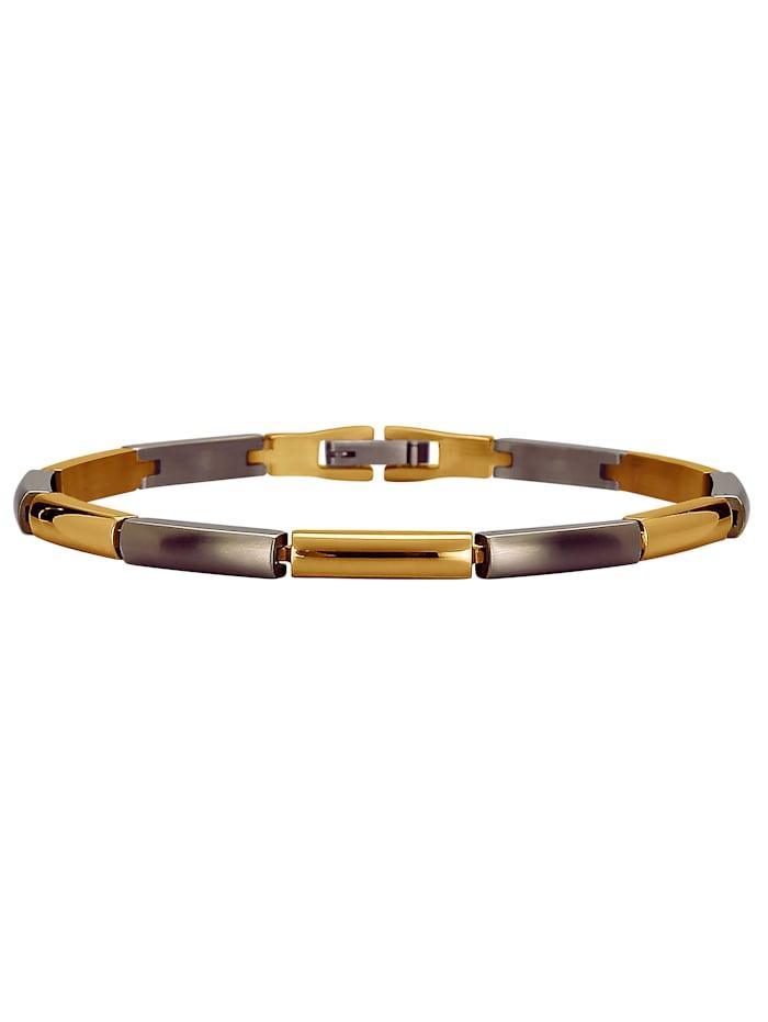 KLiNGEL Armband aus Titan, Grau