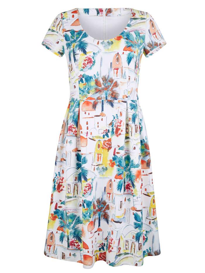 AMY VERMONT Kleid mit Druck, Weiß