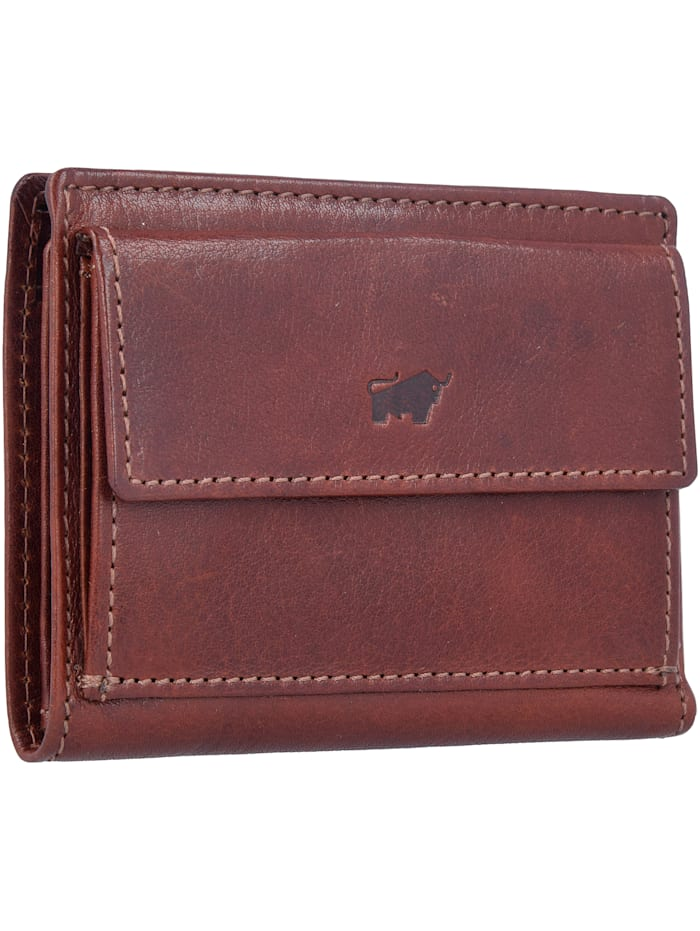 Braun Büffel Arezzo Geldbörse RFID Leder 8 cm, tabak