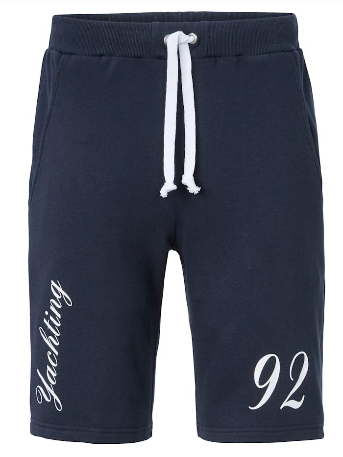 BABISTA Shorts av 100% bomull, marinblå