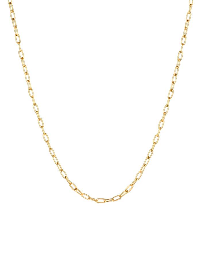 Halskette Herren Gliederkette Oval Basic Fein 925 Silber