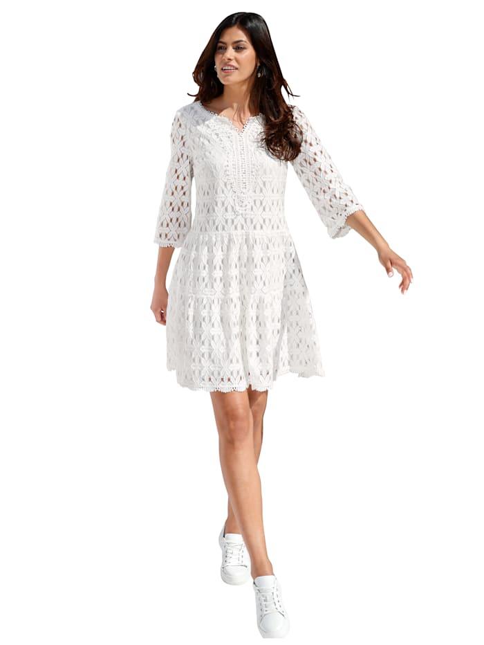 Betty Barclay Kleid mit Spitze allover, Off-white