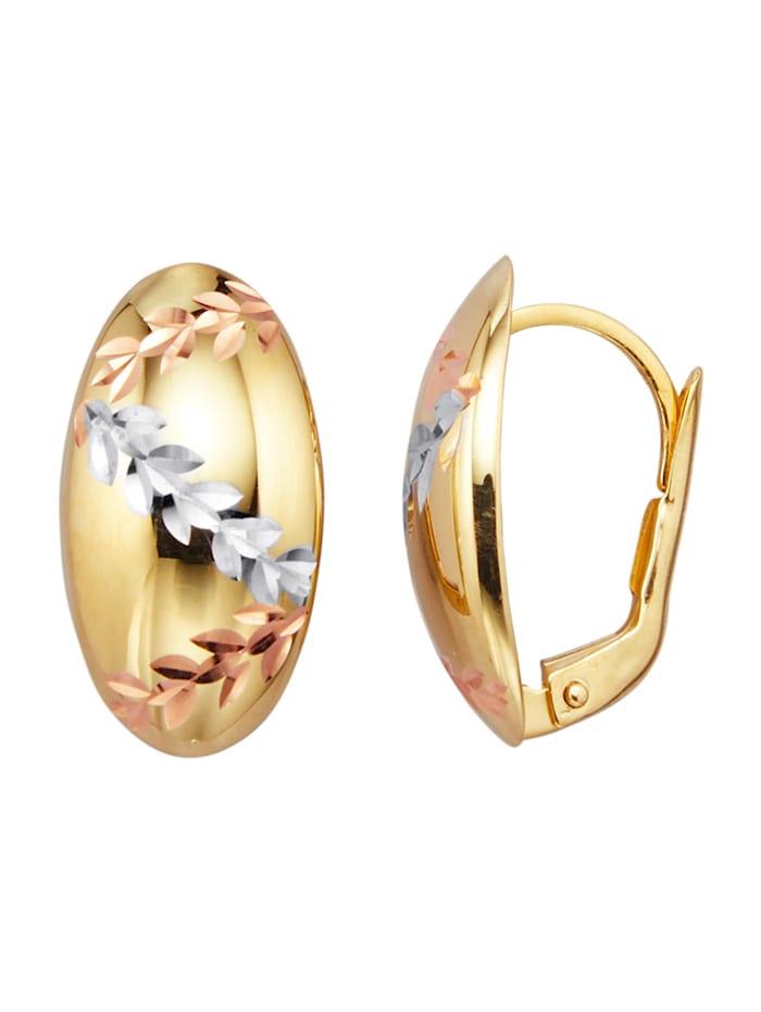 Øredobber i gull 375, Gullfarget