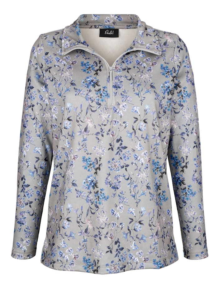 Paola Sweatshirt mit floralem Druck, Grau