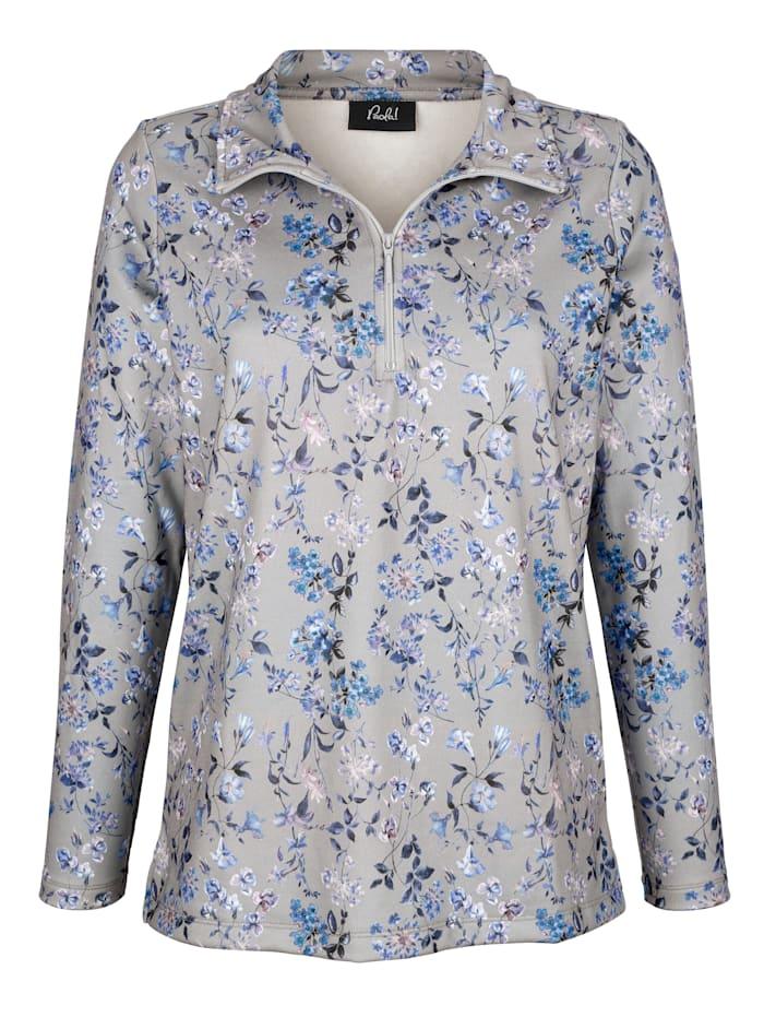 Paola Sweatshirt met bloemenprint, Grijs