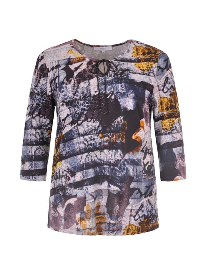 Più Print-Shirt mit Bindeband