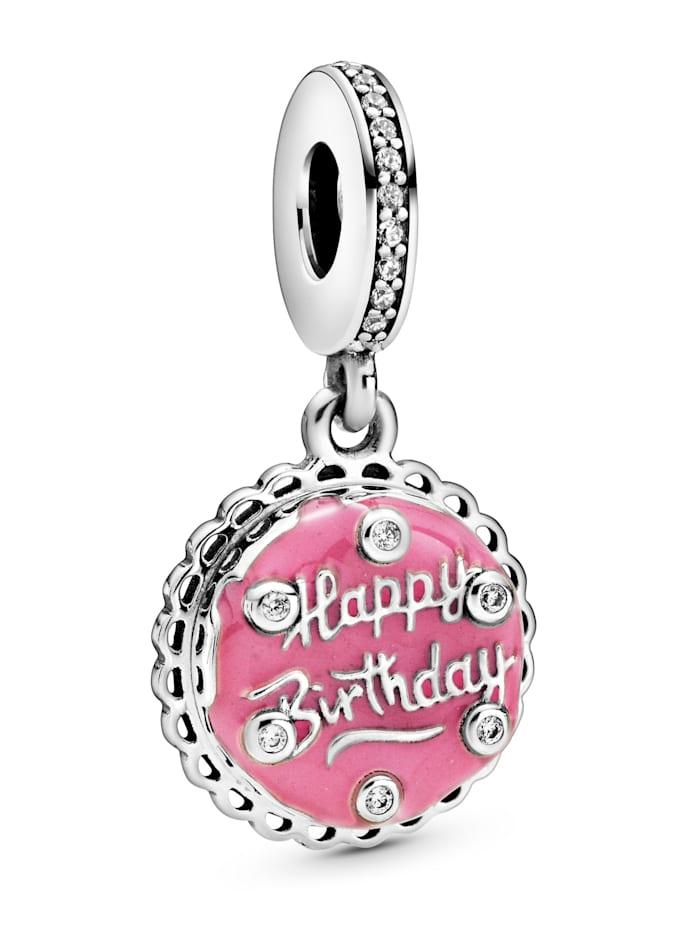 Pandora Charm-Anhänger -Pinkfarbener Geburtstagskuchen- 798888C01, Rosé