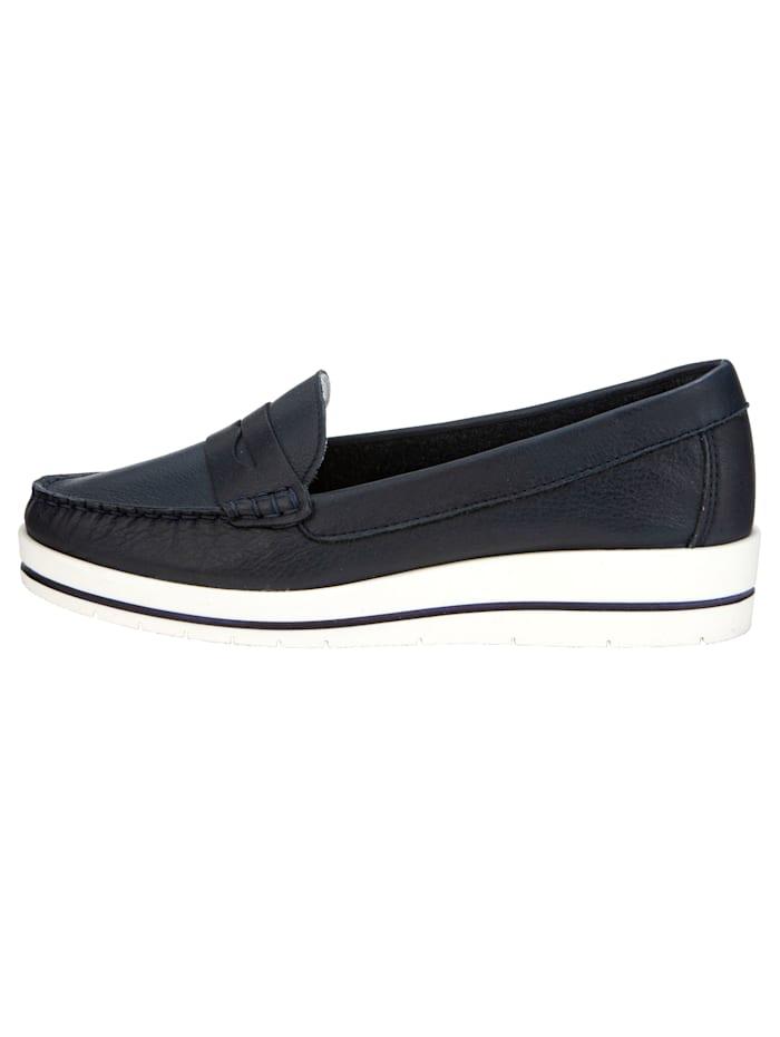 Loafers med randig sula