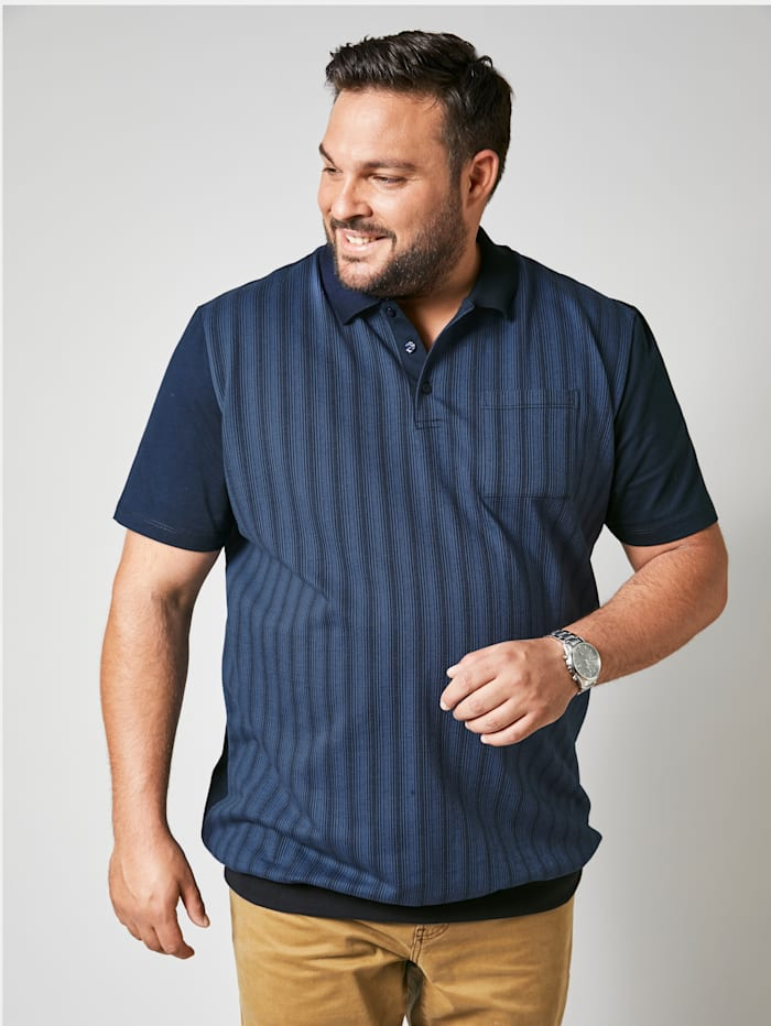 Men Plus Poloshirt in speciaal model, Marine