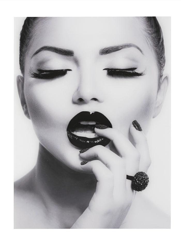 IMPRESSIONEN living Bild Face, schwarz/weiß