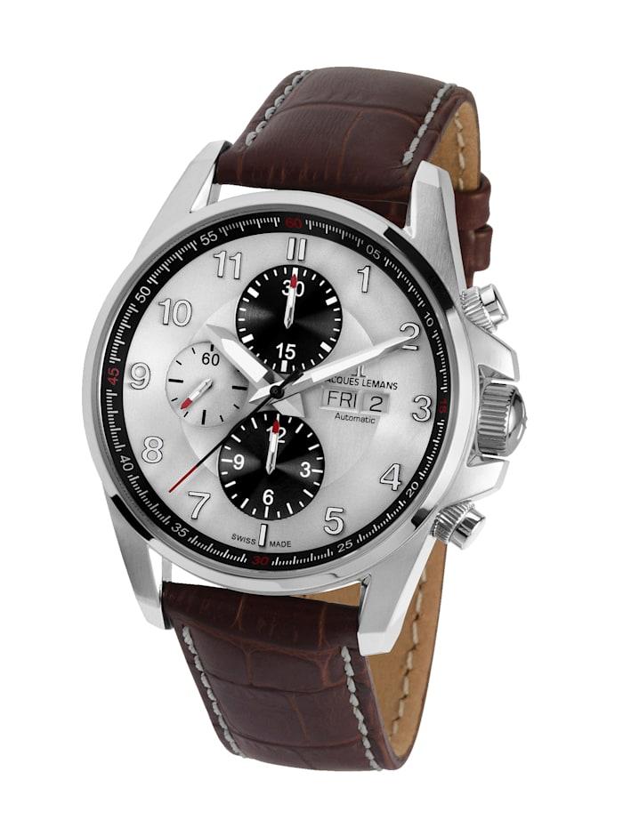 Jacques Lemans Herren- Uhr - Automatik-Chronograph Serie: Liverpool Automatic, Kollektion: Sport: 1- 1750B, Braun