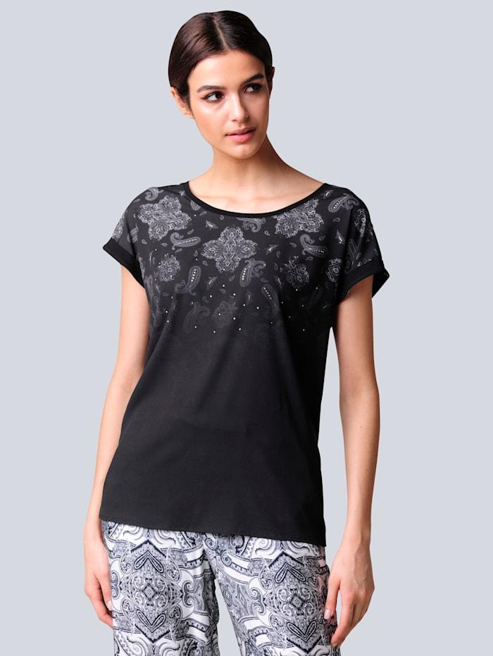 Alba Moda Shirt im exklusivem Druck von Alba Moda, Schwarz/Off-white